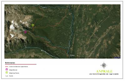 Circuito Cerro Hielo Azul - Laguna Natación - Mapa General